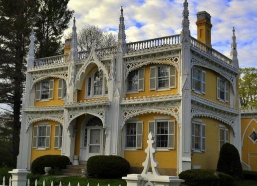 The famous Wedding Cake house next door