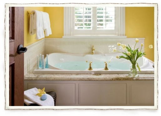 The Yellow Room Whirlpool Tub