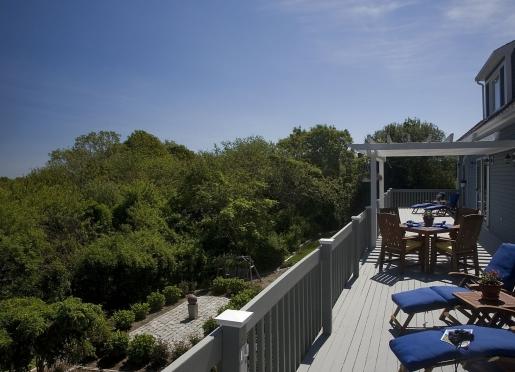 Enjoy breakfast al fresco on our 75 foot deck