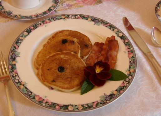 Blueberry Pancakes with Local Blueberry's and Local Maple Syrup