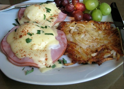 Eggs Benedict is one of our favorite breakfast dishes.