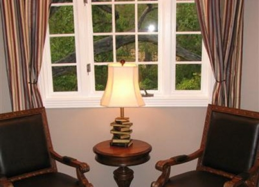 White Oak offers this cozy sitting nook.