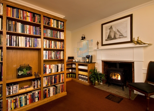 Relax with a book in front of the cozy fire