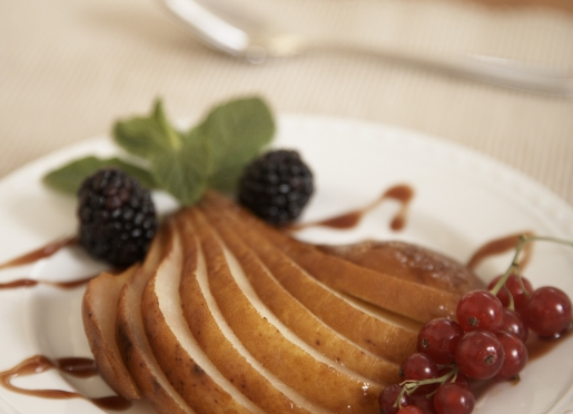 Breakfast pear - one of the fruit appetizers
