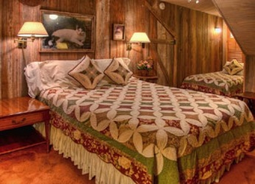 Guilbeau room has a queen & a twin bed, a new TV & a shower/tub combination. Great for 2-3 guests.