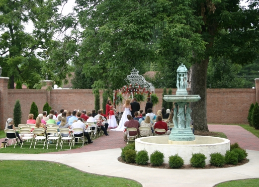 Courtyard Wedding at Falcon Rest Mansion