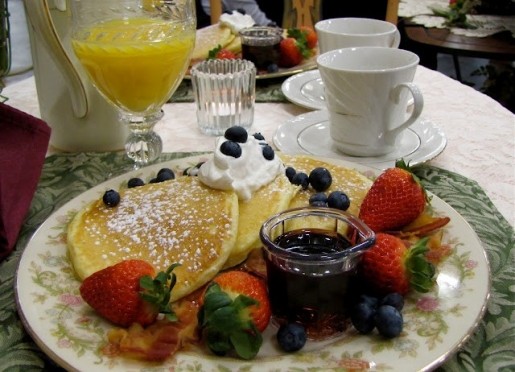 Come Taste our Delicious Lemon Buttercream Blueberry Pancakes!