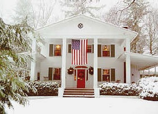 Exterior In Winter with Wrap-Around Porch
