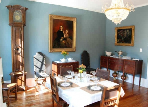 Eastern Drawing Room set up for Breakfast