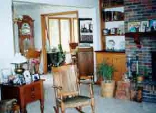 Furnished with antiques