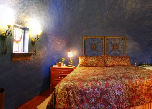 Sapphire Room is the jewel of the garden, king-bed, private patio, off the courtyard, flowers&more