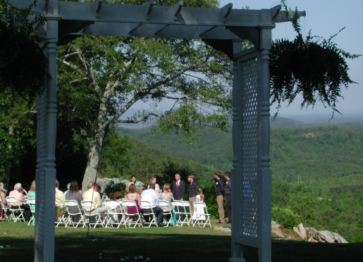 A wedding with a view! A beautiful backdrop for a beautiful ceremony!