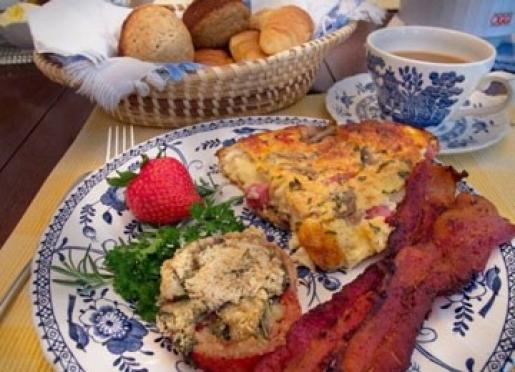 Enjoy a full, hot gourmet breakfast.