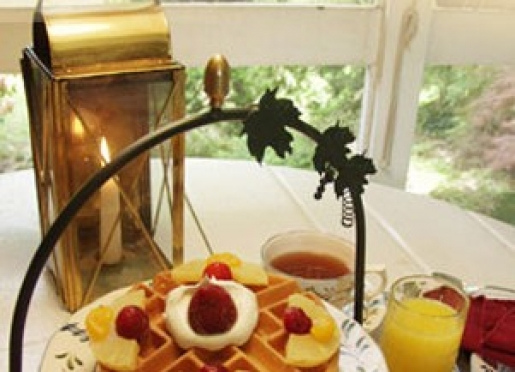 Enjoy a romantic breakfast in your room or on your private porch!