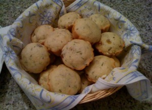 Enjoy home-baked muffins.