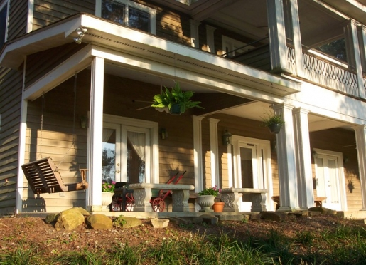 Large wrap-around porches