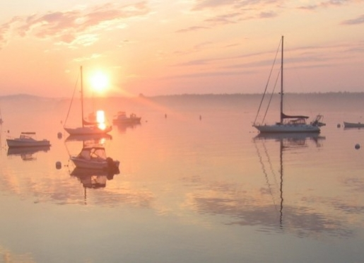 Sunrise over Castine harbor