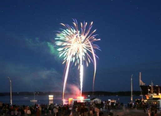 The 4th of July in Castine is full of activities for everyone, including a fireworks display.
