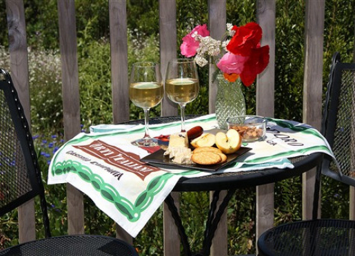 AppleGarden Farm hard cider with Cowgirl Creamery cheese awaits your arrival...