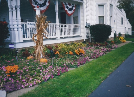 Fall Setting of Wrap Around Front Porch