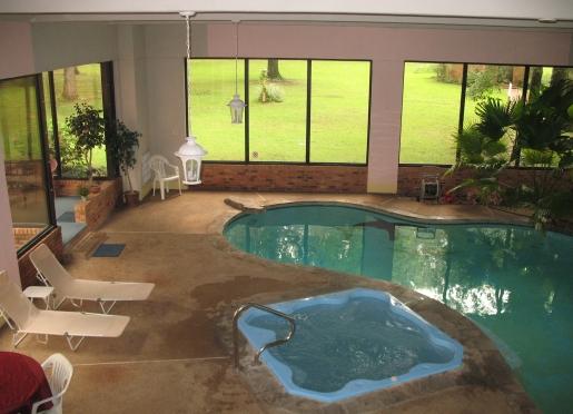 Year Round Hot Tub and Seasonal Swimming Pool