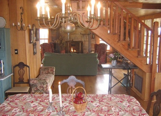1400 square foot historical log home