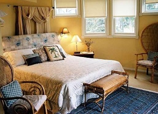 The Inn has nine spacious, lavishly decorated guestrooms.