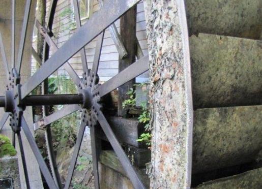 1800's Fitz Water Wheel.