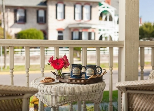 Enjoy a morning cup of fresh coffee on the porch.