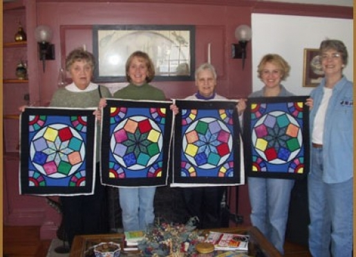 Show and tell - quilter's retreat