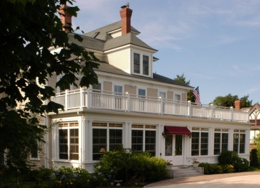 The Bass Cottage Inn is located in a quiet enclave near the center of the village.