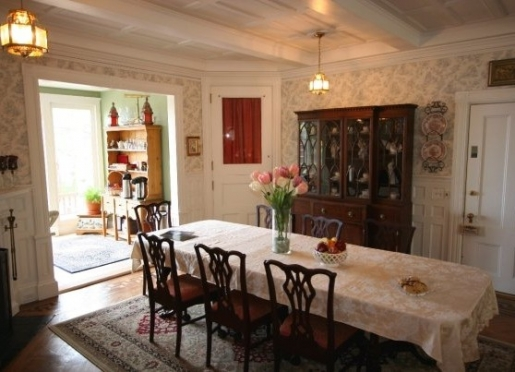 Breakfast may be served on the rear deck or in the formal dining room.