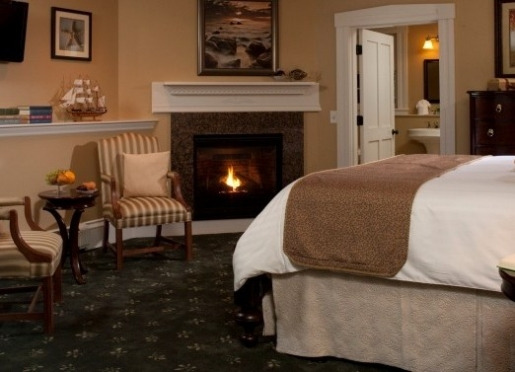 Enjoy one of premium rooms with fireplaces.
