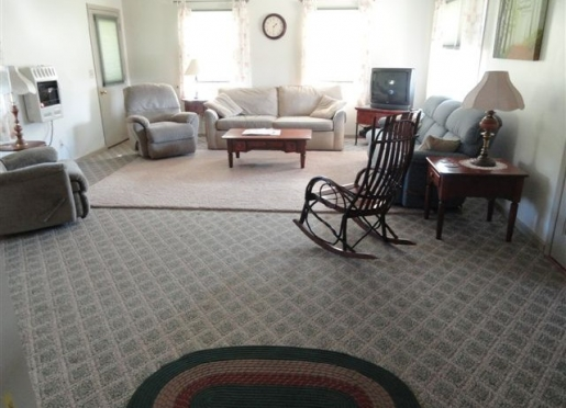 Large family room in Maple Lane Farmhouse.