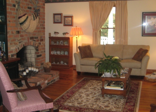 Guest living room and adjoining dining room are available to guests 24 hours a day.