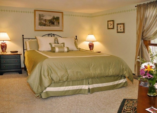 The Baldwin room, with king bed, full private bath, a guest favorite.