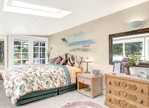 The Dunes-king bed, skylight, jetted tub, french doors to the deck and steps from the gazebo!