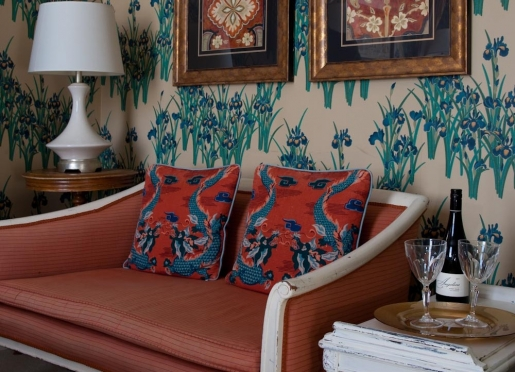 Furniture, wallcoverings and accessories are all works of art and artistry at our Portland Maine inn