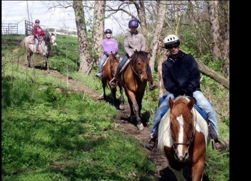 Ride through the woods and over the hills with friends or family at First Farm.