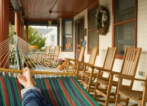 Enjoy a good read on our two person hammock.