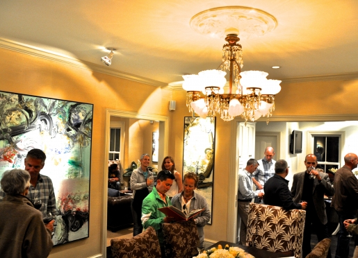 Guest enjoy wine hour and our In(n) Art exhibition at our Provincetown Hotel