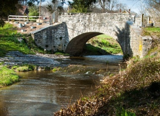 One Lane Stone Arched Bridge