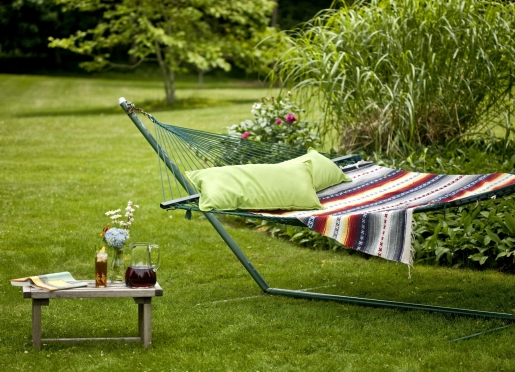 Borrow a book for our library and fall asleep on the hammock!