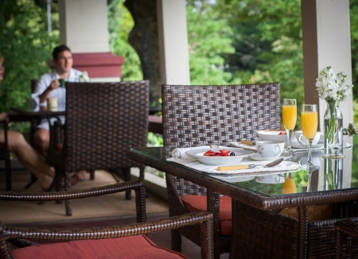 Enjoy Breakfast on the Porch or our Dining Room