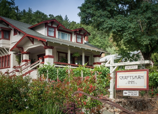 Welcome to the Craftsman Inn in Calistoga, CA