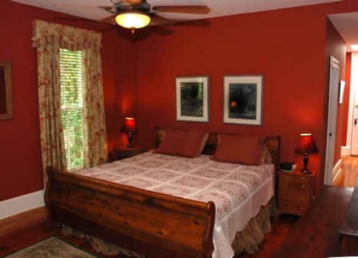 Cinnamon Room with king sized bed and private shower only bath