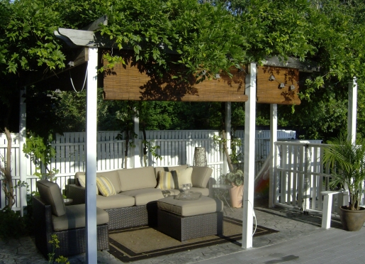 The patio is a great place to have breakfast or relax after a swim.