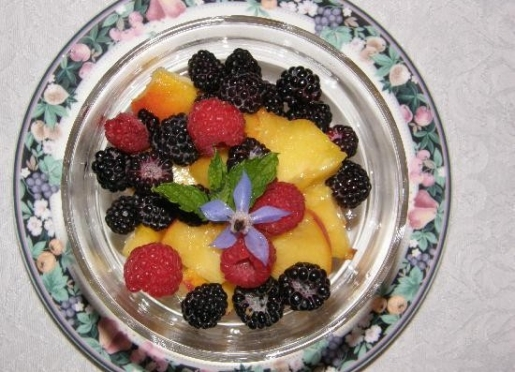 Locally farmed peaches, raspberry's, and black raspberry's picked at their peak ripeness.