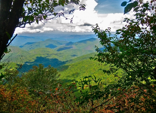 Mountain vista from the Appalachian Trail between Big Bald and Spivey Gap