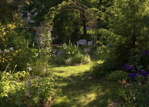 The Pentagoet garden is a lovely place to visit during your stay.